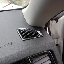 Yimaautotrims Dashboard Air Conditioner AC Outlet Vent Cover Trim Fit For Skoda Kodiaq 2017 2018 2019 ABS Matt Carbon Fiber Look