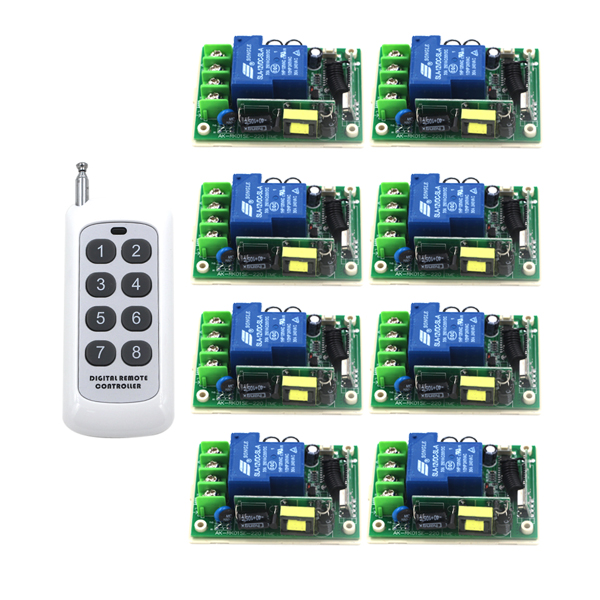 Intelligent house Control Center Smart RF Wireless Remote Switch AC 85V-250V 110V 30A 315/433MHZ SKU: 5285