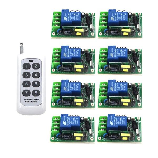 Intelligent maison Center De Contrôle Intelligent RF Sans Fil À Distance Commutateur AC 85 V-250 V 110 V 30A 315/433 MHZ SKU: 5285