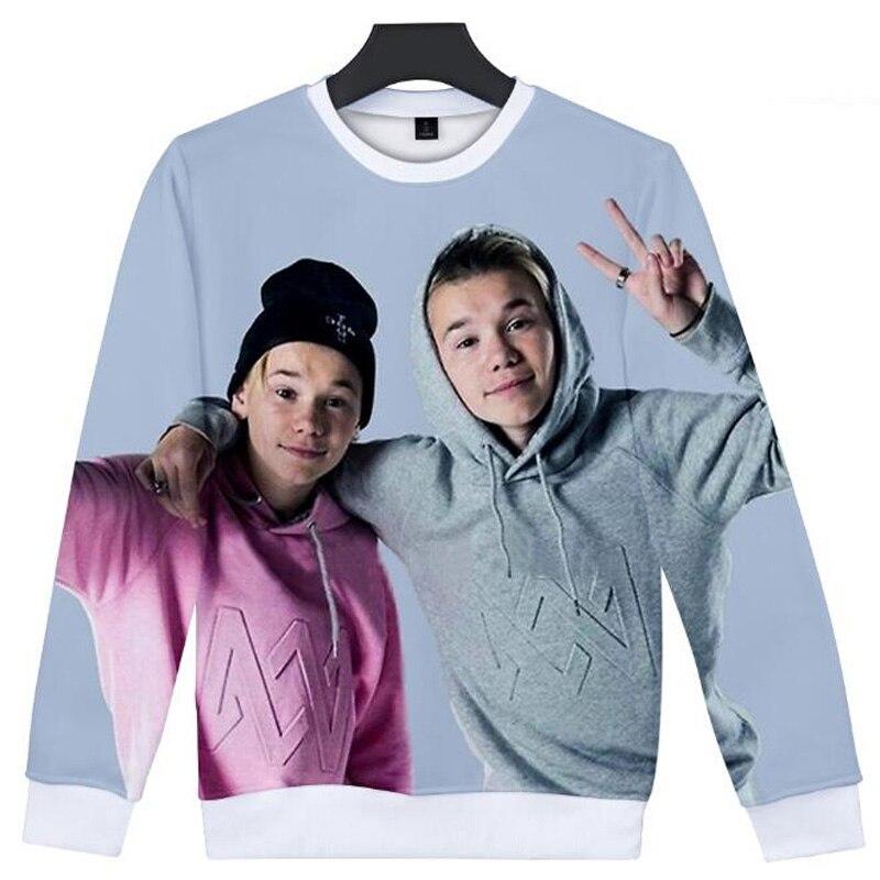 Marcus And Martinus 3D Hoodies Men Women Pullover Crewneck Sweatshirt Street Style Tumblr Pop Band Hoody Unisex Brand Clothes
