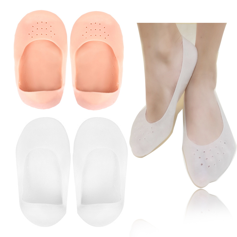 1Pair Silicone Insole Moisturizing Socks Heels Protector Anti Crack Foot Spa Socks Gel Shoes Insoles Feet Care Pedicure Socks