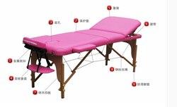 سرير تدليك قابل للطي من ناوا W19. سرير للعلاج سرير تدليك طبيعي أصلي. مصنعي خشب متين بيع كرسي العناية بالجمال