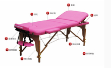 NAUA W19 folding massages bed. Original physical therapy bed massage bed. Solid wood manufacturers selling beauty bed