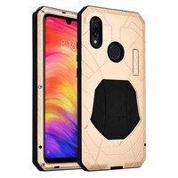 Luxury Outdoor IMATCH Sports Army Tactical Shockproof Metal Silicone Phone Case Cover For Xiaomi Redmi Note7 Note 7Pro KS0172