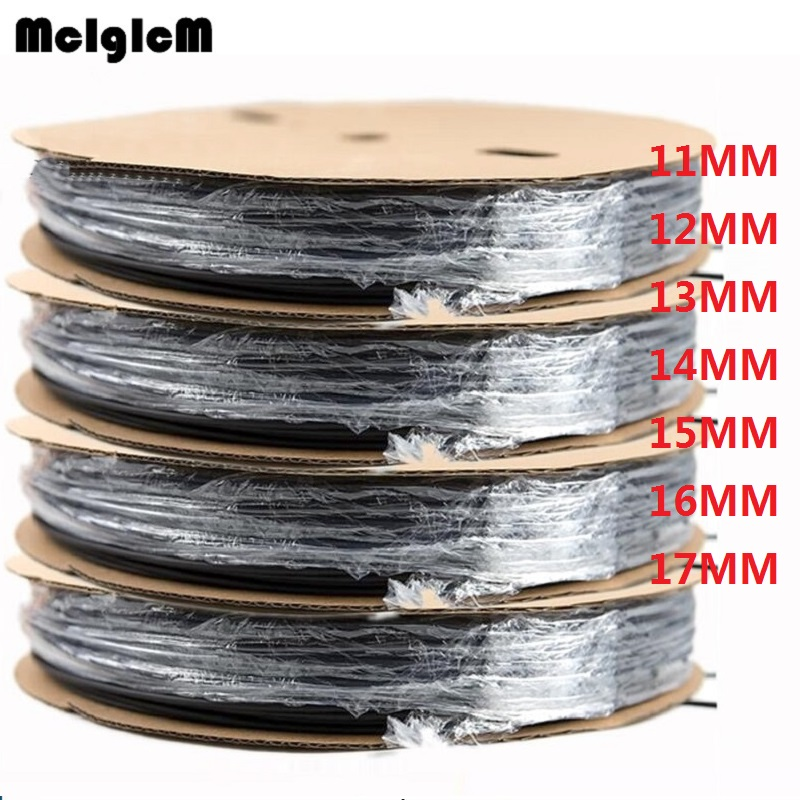 1reel Heat Shrink Tube 11MM 12MM 13MM 14MM 15MM 16MM 17MM Heat Shrink Tubing Shrinkable Wrap Wire Cable Sleeve Kit