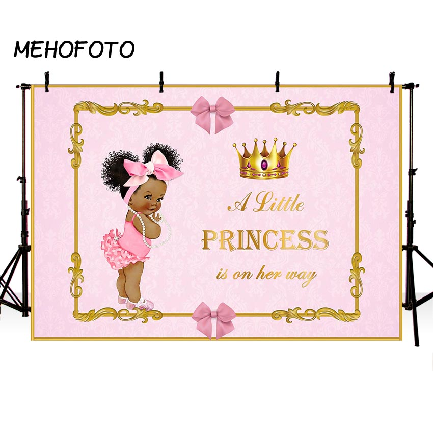 MEHOFOTO Royal Baby Shower Backdrop For Photography Litter