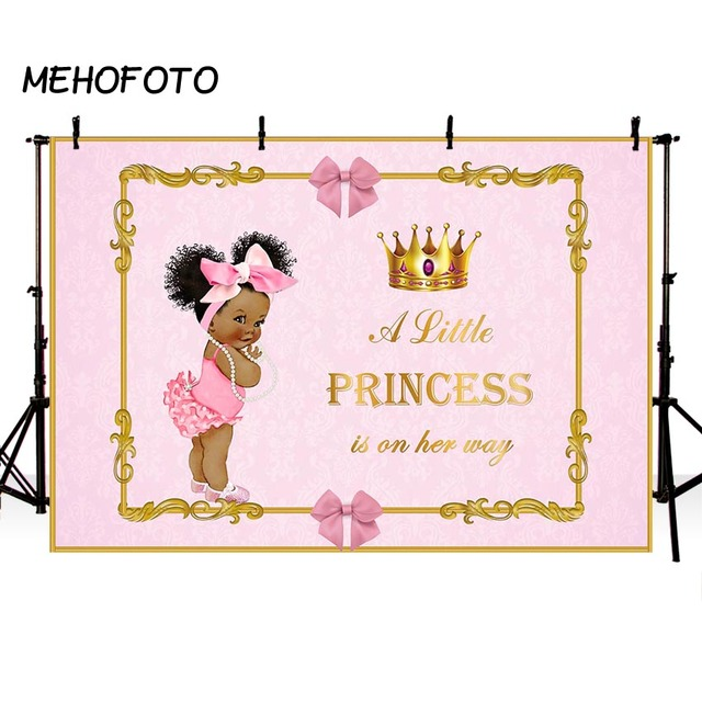 MEHOFOTO Royal Baby Shower Backdrop for Photography Litter Princess Gender Reveal Party Decoration Photo Backdrops for Pictures