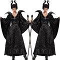 Взрослый Черный Спящая Красавица Maleficent Ведьма Дамы Необычные Платья Костюм Экипировка P103