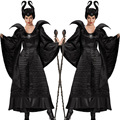 Preto adulto Bela Adormecida Maleficent Bruxa Ladies Fancy Dress Costume Outfit P103