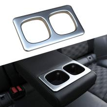 Parti cromate Misura Per Nissan Qashqai 2014-2019 Interior Rear Tazza di Acqua Coperchio Guarnisce Accessori Rogue Sport 2017 2018 2019
