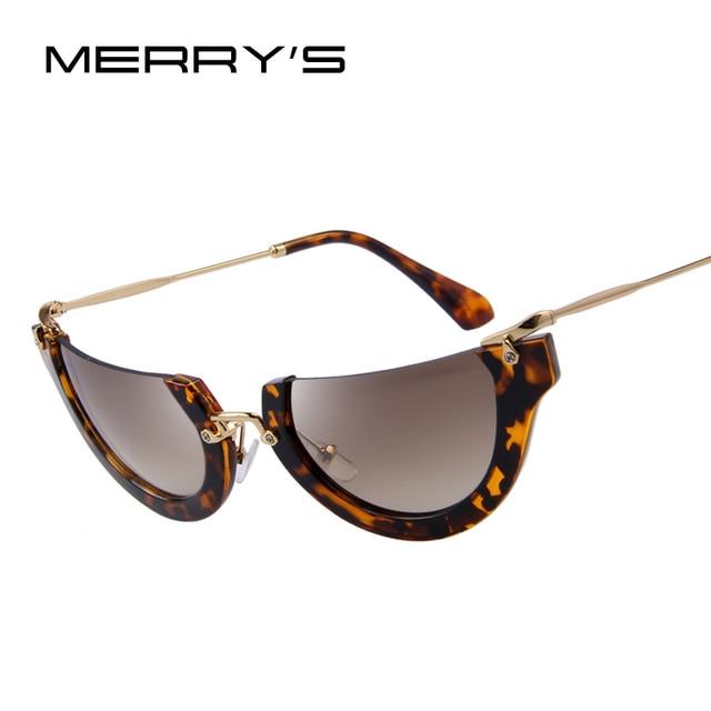 7bcbf3b299 MERRY S Fashion Women Cat Eye Sunglasses Classic Brand Designer Semi-Rimless  Sunglasses Butterfly Shades UV400