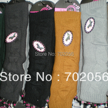 2015 winter solid Knitted twist Arm Warmers Fingerless long Gloves 24 pairs/lot mixed colors #3416