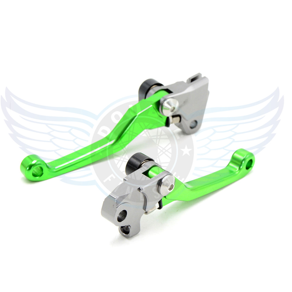 ФОТО high quality motorcycle  Pivot Brake Clutch Levers cnc brake  lever For Kawasaki KLX250 D.TRACKER 250 2008 2009 2010 2011 2012