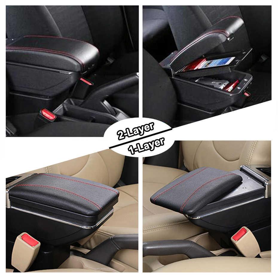 Xukey Merkezi Kol Dayama Ford Ecosport 2013-2017 Için Kontrol Merkezİ Siyah Depolama Araba Styling Kutusu Küllük 2015 2016
