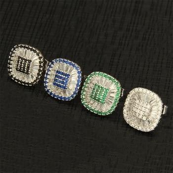 Guinevere  Copper Silver Pins Multicolor Cubic Zirconia Stud Earrings 2018  Women's Party Fashion Jewelry Cobre CZ Brincos