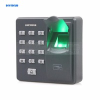 DIYSECUR Biometric Fingerprint Access Control Machine Digital Electric RFID Reader Code Password Keypad System For Door