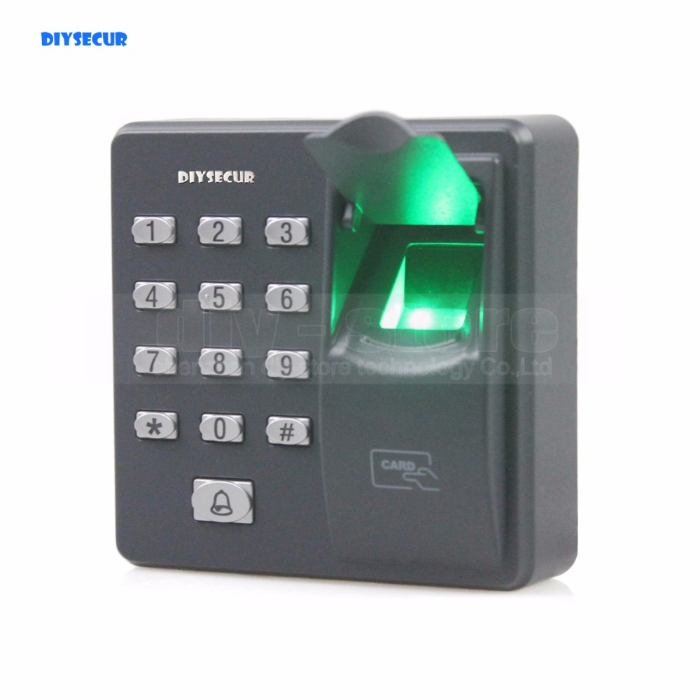 DIYSECUR Biometric Fingerprint Access Control Machine Digital Electric RFID Reader Code Password Keypad System for Door Lock fs28 biometric fingerprint access control machine electric reader scanner sensor code system for door lock