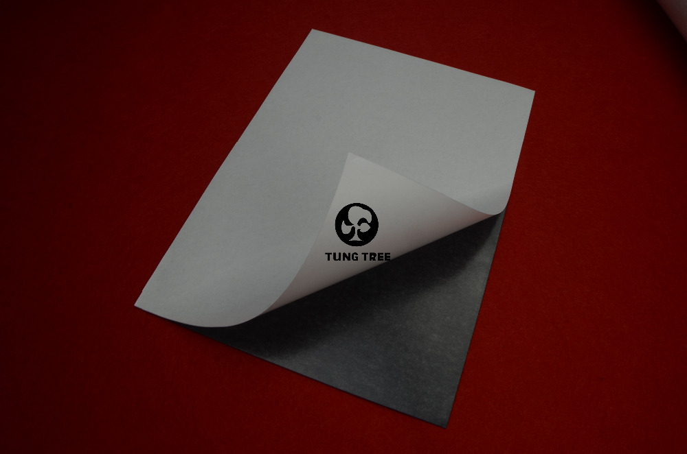Ketebalan Kereta / Pameran / Iklan Getah Magnet Diri Pelekat Lembaran Magnetik Fleksibel A4 Saiz 0.5mm Photo Paper Magnetic