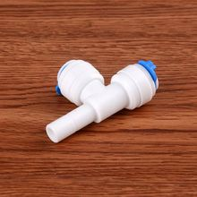 3/8 Quick Connection - OD Tube Tee Type PE Pipe Fitting Hose Plastic Connector Parts Aquarium RO Water Filter System