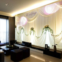 Custom New Stage Living Room Sofa Backdrop Wallpaper 3d Wallpaper Wedding Wedding Marriage Room Video Wall