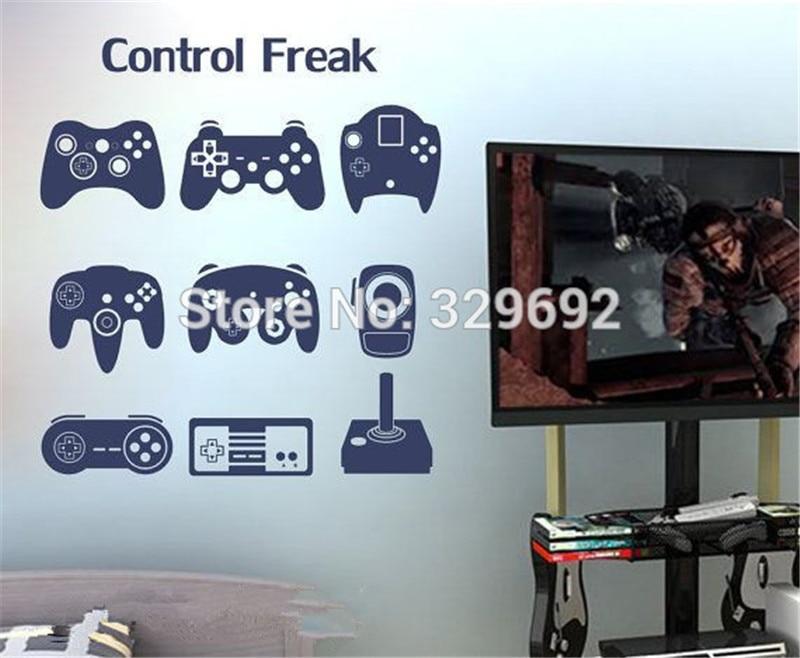 Виниловые наклейки на стены игровой контроллер/геймпад/джойстик для геймеров игровой видео игры для детей, Наклейки на стену