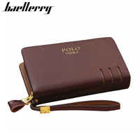 New 2014 Brand POLO High Quality Cowhide Casual Genuine Leather Wallet Men Clutch Fashion Men Bag