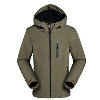 Spring Autumn Soft Shell Jacket Men Hooded Zipper Sportswear Camouflage Windbreaker Jackets Shark skin Outwear Waterproof Coats