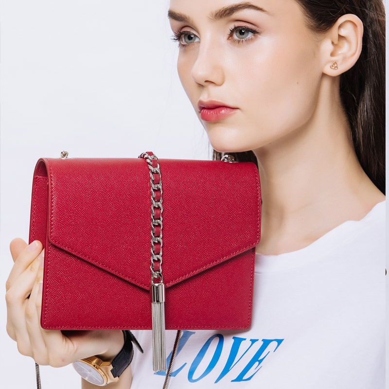 KZNI shoulder bags for women genuine leather handbags female cross shoulder bag with chain ladies handbags sac femme  9099KZNI shoulder bags for women genuine leather handbags female cross shoulder bag with chain ladies handbags sac femme  9099