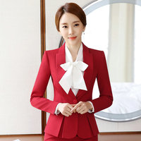 2018 Professional autumn business suit for women XXXL skirt suits OL slim work wear office long sleeve blazer with skirts