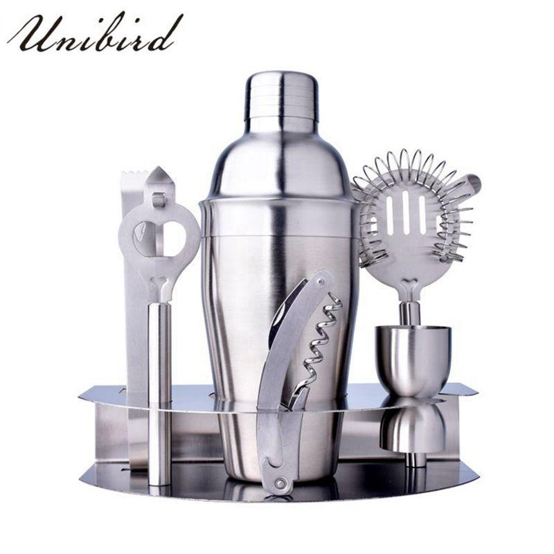 Unibird ensemble agitateur à Cocktail Boston 7 pièces/ensemble en acier inoxydable Kit de Bar pratique