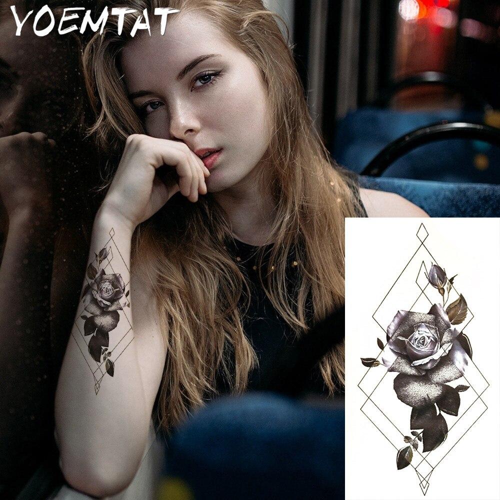 1pc ελαφρύ καυτό μαύρο λευκό μεγάλο Henna - Τατουάζ και τέχνη του σώματος - Φωτογραφία 3