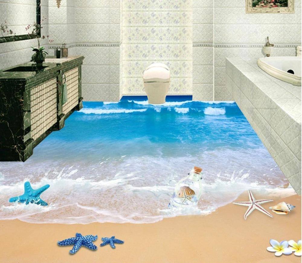 Aliexpress.com : Buy Beach Floor Murals In Wall Stickers