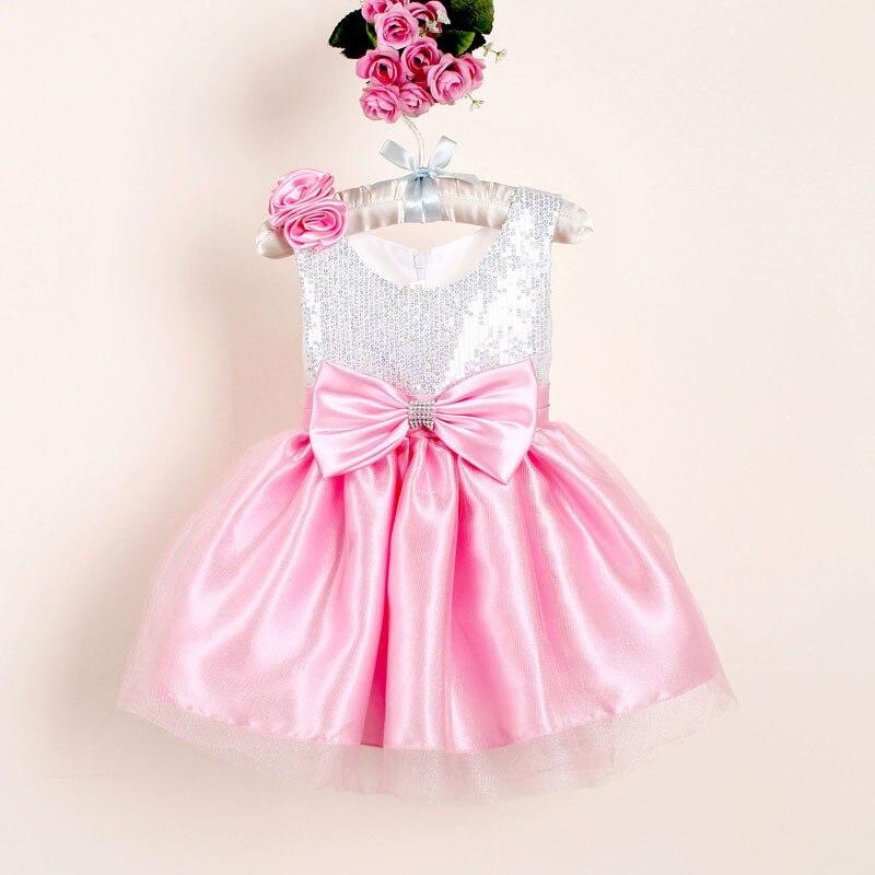 Recién nacidos Vestidos de Niña de Navidad con Arco para niños de ...