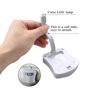 Image 4 - 1 pièce 2 pièces 8 lampes LED changeantes de couleur lumière corps salle de bains mouvement bol toilettes veilleuse activé On/Off lumières siège capteur lampe