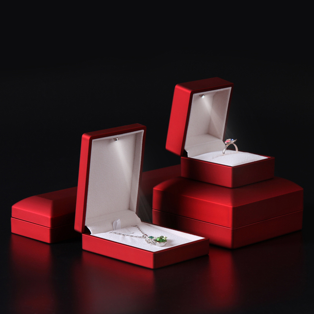 Red Features spotlights jewelry box shoot LED ring box LED Jewelry