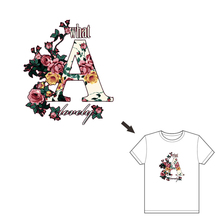 Hoomall Letter Flower Iron On Printing Patches For Clothes DIY Stickers Heat Transfer Patch Appliques T-shirts Decorate 2017 New