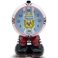 Creative Children Small Alarm Clock Cartoon Electronic Desk Clock Bedside Vintage Talking Kids Wecker Holz Table Clocks 50A0113