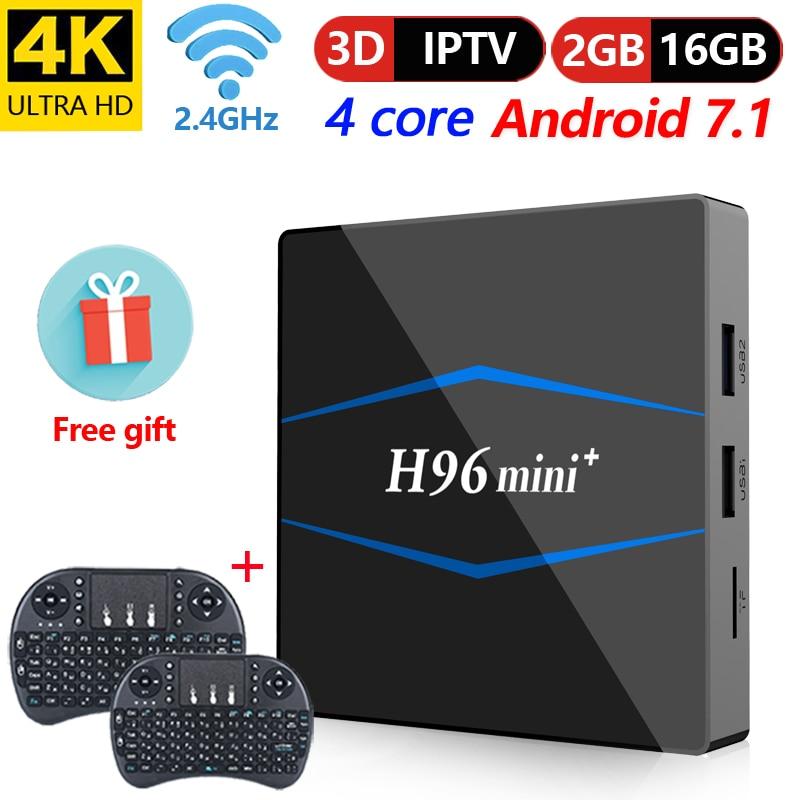 M96X Mini Android 7.1 Smart TV Box 2GB 16GB Wifi 5G//2.4G S905W Bluetooth Kodi 18