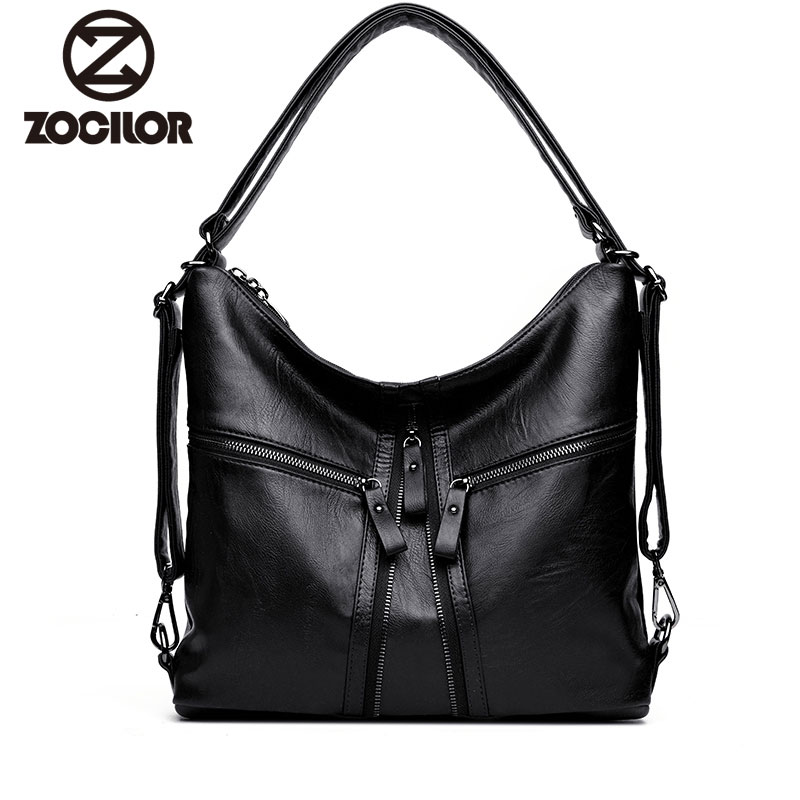 2018 New Big Women handbags Soft PU Leather Hobos Female Handbags Fashion Shoulder Bags Ladies High Quality Design Bag casio mtp 1291d 7a