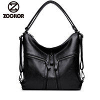 2018 New Big Women handbags Soft PU Leather Hobos Female Handbags Fashion Shoulder   Bags   Ladies High Quality Design   Bag