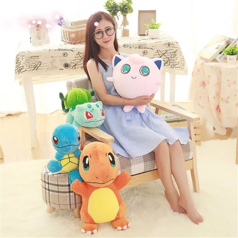 4 styles charmander plush toy Bulbasaur Jigglypuff squirtle doll Anime Soft Stuffed  Animal Doll Anime Baby bithday gift kid-in Movies   TV from Toys ... fb3205b4dc1c
