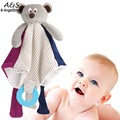 Baby Bear doll appease towel doll baby balnket wiht ring teethers baby doudou lovely toys