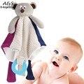 Bebé Oso muñeca apaciguar toalla muñeca bebé balnket wiht anillo mordedores bebé doudou juguetes encantadores