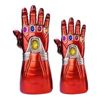 New PVC LED Light Avengers Endgame Iron Man Nano Gauntlet Thanos Infinity Gauntlet Armor Tony Stark Cosplay Gloves Props