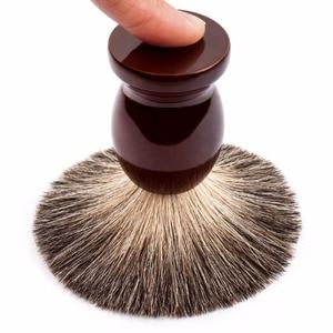 Image 3 - Qshave Klassische Sicherheit Rasiermesser Mit 100% Reine Dachs Haar Rasierpinsel Mit Stand Halter für Doppel Rand Rasiermesser
