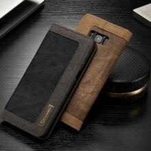 Роскошный кожаный флип чехол для Samsung Galaxy S8 случае плюс Samsung S8 защитный чехол бумажник телефон крышка Galaxy S8 край Coque 2017