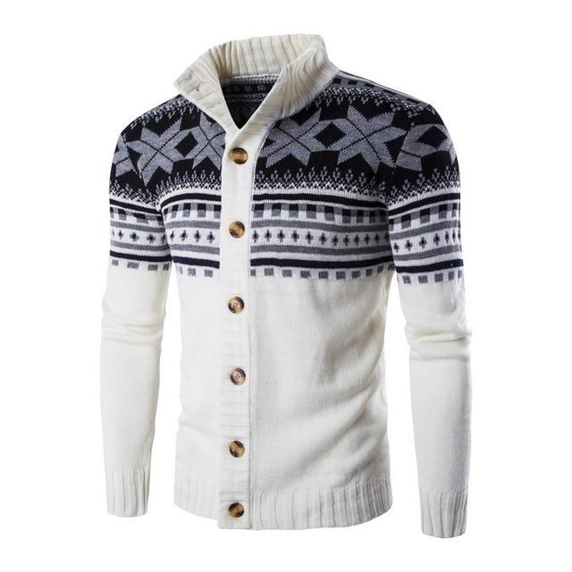 SHUJIN Cardigan suéter de los hombres de moda de otoño