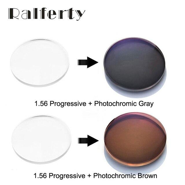 1.56 Prescrição Fotocromáticas Progressiva Óptico Anti-Reflexo Óculos de  Lentes de Resina Cinza Transparente Marrom cbb1c17277