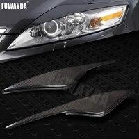 FUWAYDA 2 шт. Высокое качество реальные углеродного волокна украшения Верхняя и нижняя накладки на фары Крышка для FORD Mondeo MK4 2007 2013