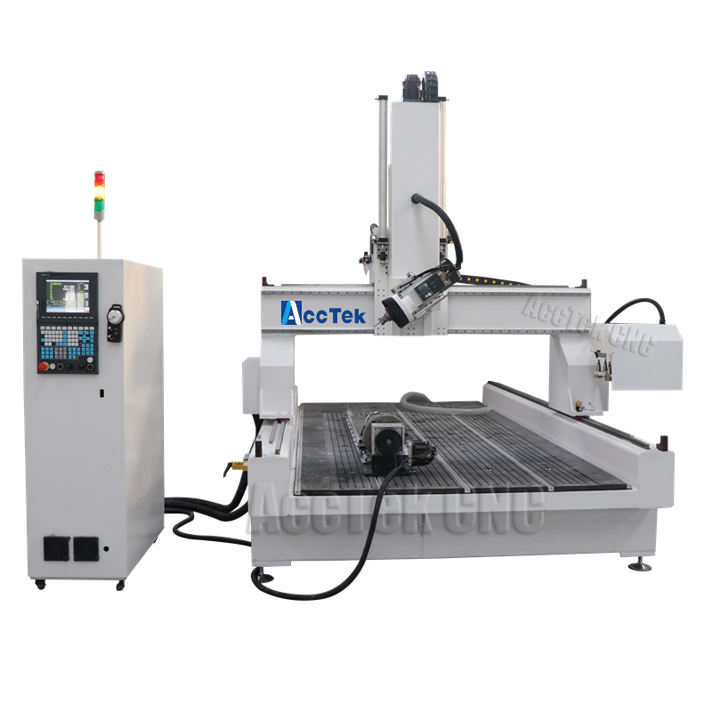 AKM1325 4 Axis Rotary Wood Cnc Router ACCTEK New Atc Cnc Wood Router For Sale
